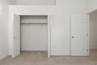 Master bedroom loft above closet.
