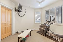 3rd Bedroom Used As Exercise Room
