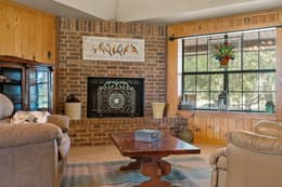 Floor to Ceiling Bricked Fireplace