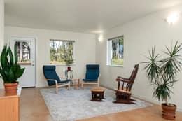 Living Room has door to backyard
