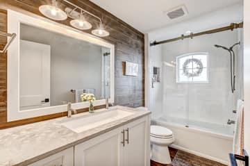 Private Guest Bath #2 - Gentlemen Height Vanity and Toilet