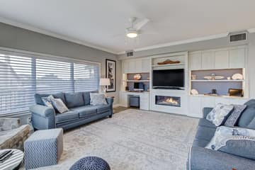 Living Room -Built in Fire Place