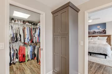 Master Walk-in Closet/Custom made linen closet
