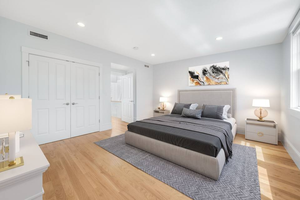 Digitally staged Bedroom 1